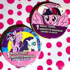NWT My Little Pony Magic Wash Cloths 2 piece